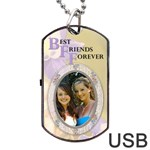 BFF Dog Tag USB Flash (2 Sides) - Dog Tag USB Flash (Two Sides)