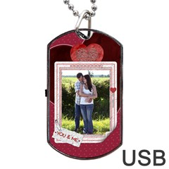 You And Me Tag Usb Flash (two Sides)  By Lil    Dog Tag Usb Flash (two Sides)   Doyvs0mbb6xc   Www Artscow Com Front