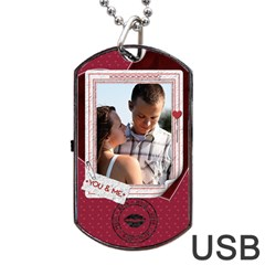 You And Me Tag Usb Flash (two Sides)  By Lil    Dog Tag Usb Flash (two Sides)   Doyvs0mbb6xc   Www Artscow Com Back