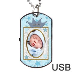 Little Prince Dog Tag Usb Flash (2 Sides) By Lil    Dog Tag Usb Flash (two Sides)   Wuagttojlr7o   Www Artscow Com Front