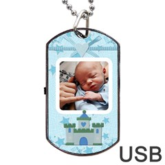 Little Prince Dog Tag Usb Flash (2 Sides) By Lil    Dog Tag Usb Flash (two Sides)   Wuagttojlr7o   Www Artscow Com Back