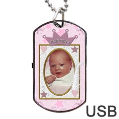 Little Princess Dog Tag Usb Flash (2 Sides) By Lil    Dog Tag Usb Flash (two Sides)   2zqf8wtbwg5y   Www Artscow Com Front