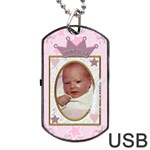 Little Princess Dog Tag USB Flash (2 Sides) - Dog Tag USB Flash (Two Sides)