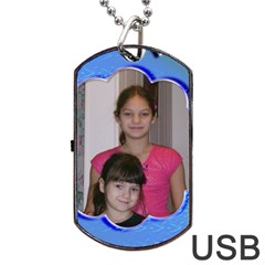 Blue Wave Dog Tqag Usb Flash By Kim Blair   Dog Tag Usb Flash (two Sides)   9bfogk7kfh5i   Www Artscow Com Front