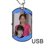 blue wave dog tqag USB flash - Dog Tag USB Flash (Two Sides)