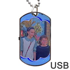 Blue Wave Dog Tqag Usb Flash By Kim Blair   Dog Tag Usb Flash (two Sides)   9bfogk7kfh5i   Www Artscow Com Back
