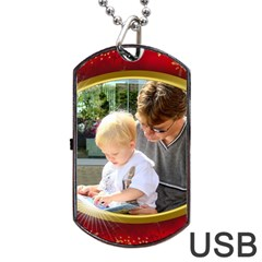 Gold Rim Dog Tag Usb (2 Sided) By Deborah   Dog Tag Usb Flash (two Sides)   Nlypxe018xbs   Www Artscow Com Front