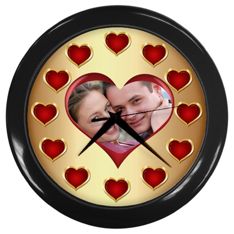Heart Wall Clock By Deborah   Wall Clock (black)   Xszs0kprptmh   Www Artscow Com Front