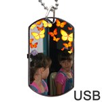 butterfly dog tag USB flash - Dog Tag USB Flash (Two Sides)