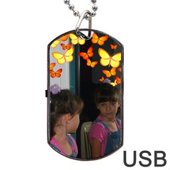 Butterfly Dog Tag Usb Flash By Kim Blair   Dog Tag Usb Flash (two Sides)   Payi6iqko3fi   Www Artscow Com Back