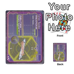 Battlestar Galactica Starship Battles By Michael   Multi Purpose Cards (rectangle)   28cu31moop85   Www Artscow Com Back 3