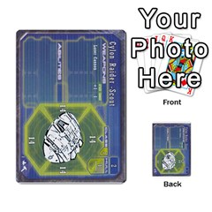 Battlestar Galactica Starship Battles By Michael   Multi Purpose Cards (rectangle)   28cu31moop85   Www Artscow Com Front 5