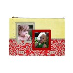 Red, Yellow & Pink flowers-cosmetic bag (L) - Cosmetic Bag (Large)