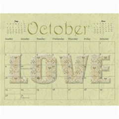Large Wall  love  Calendar 2015 Red And Gold  By Claire Mcallen   Wall Calendar 11  X 8 5  (12 Months)   3xpqjirggr70   Www Artscow Com Oct 2015