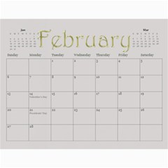 Large Wall  love  Calendar 2015 Red And Gold  By Claire Mcallen   Wall Calendar 11  X 8 5  (12 Months)   3xpqjirggr70   Www Artscow Com Feb 2015