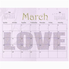 Large Wall  love  Calendar 2015 Red And Gold  By Claire Mcallen   Wall Calendar 11  X 8 5  (12 Months)   3xpqjirggr70   Www Artscow Com Mar 2015