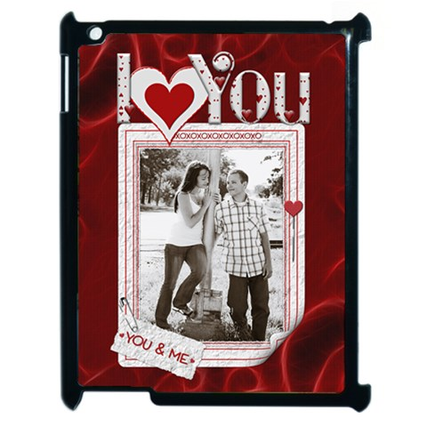 Love Apple Ipad 2 Case By Lil    Apple Ipad 2 Case (black)   08c0d9k1zs3d   Www Artscow Com Front