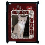 I Love My Cat Apple iPad 2 Case - Apple iPad 2 Case (Black)