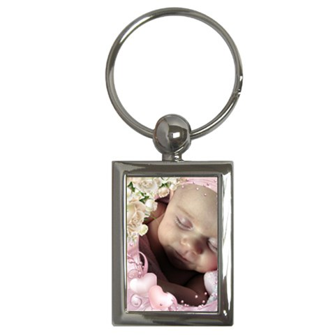 Little Girl Key Chain By Deborah   Key Chain (rectangle)   O1qduprdgo47   Www Artscow Com Front