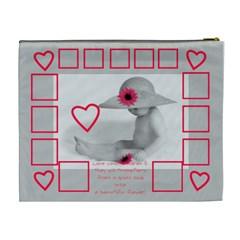 Baby Flower Cosmetic Bag By Birkie   Cosmetic Bag (xl)   N6cez67w7ugb   Www Artscow Com Back
