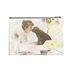 Puppy Love Cosmetic By Birkie   Cosmetic Bag (large)   Thnffglpc4ng   Www Artscow Com Back