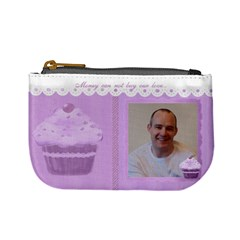 Money Can Not Buy Our Love Purple Cupcake Mini Coin Purse By Claire Mcallen   Mini Coin Purse   Ehx4cwmlq7xc   Www Artscow Com Front