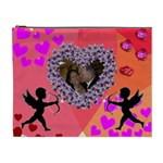 heart and cupid XL cosmetic bag - Cosmetic Bag (XL)