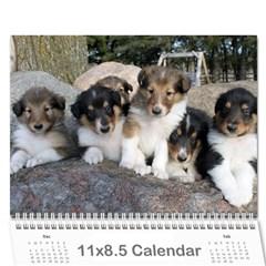Puppy Calendar By Dschroeder Arvig Net   Wall Calendar 11  X 8 5  (12 Months)   70w8isypeunh   Www Artscow Com Cover