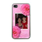 Pink Rose Apple ipHONE 4 CASE - Apple iPhone 4 Case (Clear)