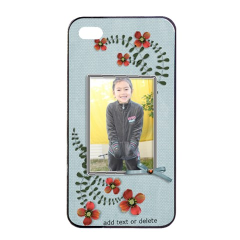 Apple Iphone 4/4s Seamless Case: Cherished Memories5 By Jennyl   Apple Iphone 4/4s Seamless Case (black)   D18friq7tga8   Www Artscow Com Front