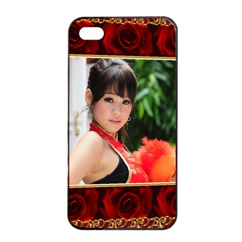 Apple Iphone 4/4 Seamless Case   Rose By Deborah   Apple Iphone 4/4s Seamless Case (black)   Iupaxpzs7hnx   Www Artscow Com Front