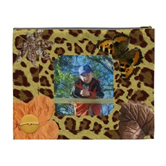 Leopard Xl Cosmetic Bag By Kim Blair   Cosmetic Bag (xl)   Xdnqvipe1klk   Www Artscow Com Back