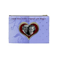 Red Heart With Cherubs Cosmetic Bag By Claire Mcallen   Cosmetic Bag (medium)   Jh2ut8la7iyh   Www Artscow Com Back