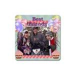 Best friends party balloon square magnet - Magnet (Square)