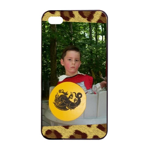Leopard Iphone 4/4 Case By Kim Blair   Apple Iphone 4/4s Seamless Case (black)   15i4iect18lk   Www Artscow Com Front