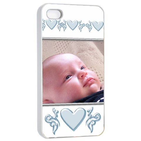 Apple Iphone 4/4 Seamless Case  Baby Boy By Deborah   Apple Iphone 4/4s Seamless Case (white)   4p77onna2a02   Www Artscow Com Front