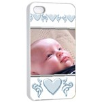 Apple iPhone 4/4 seamless case- baby boy - Apple iPhone 4/4s Seamless Case (White)