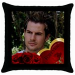 Forever Throw Pillow - Throw Pillow Case (Black)