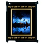 Apple iPad 2 case - black and gold - Apple iPad 2 Case (Black)