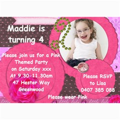 Maddie Birthday Invitation 2012 By Lisa Dare   5  X 7  Photo Cards   A2l7qq5dzocq   Www Artscow Com 7 x5 Photo Card - 5