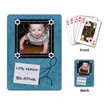 Little Person - Big Attitude Playing Cards - Playing Cards Single Design