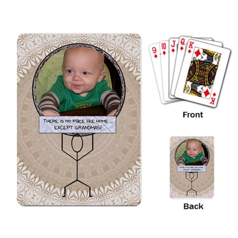 Grandmas Playing Cards By Lil    Playing Cards Single Design   Jzag4hnatreg   Www Artscow Com Back