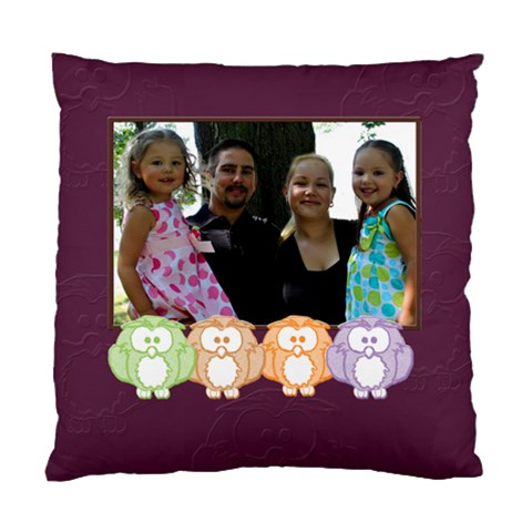 Owl Family By Patricia W   Standard Cushion Case (one Side)   Jk1eafhefywe   Www Artscow Com Front
