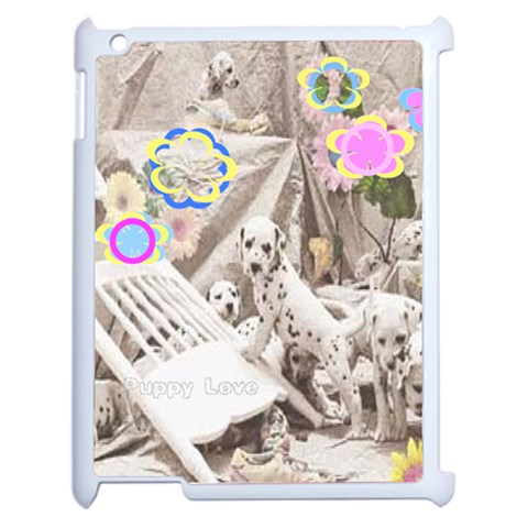 puppy love 3 ipad cover by Birkie Front