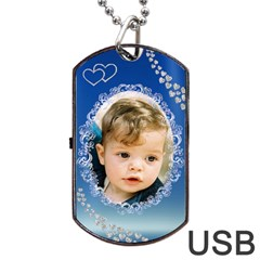 My Boy Dog Tag Usb (2 Sided) By Deborah   Dog Tag Usb Flash (two Sides)   Qgi8o9bofze2   Www Artscow Com Front