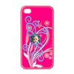 squiggle flower iphone - Apple iPhone 4 Case (Color)