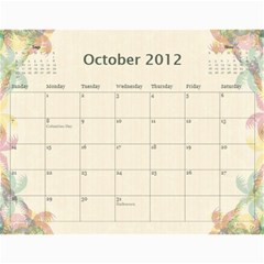 The Best One By Karen Bailey   Wall Calendar 11  X 8 5  (12 Months)   Qd87h0j7x2mj   Www Artscow Com Oct 2012