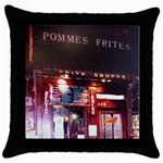 pommes frites - Throw Pillow Case (Black)