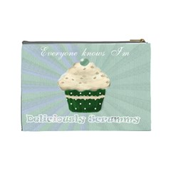 I Love My Little Cupcake Green Cosmetic Make Up Bag By Claire Mcallen   Cosmetic Bag (large)   7o2qjj2qzho0   Www Artscow Com Back