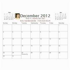 Karen Leach 3 By Kris Vandeneinde   Wall Calendar 11  X 8 5  (18 Months)   399ruha9rfx6   Www Artscow Com Dec 2012